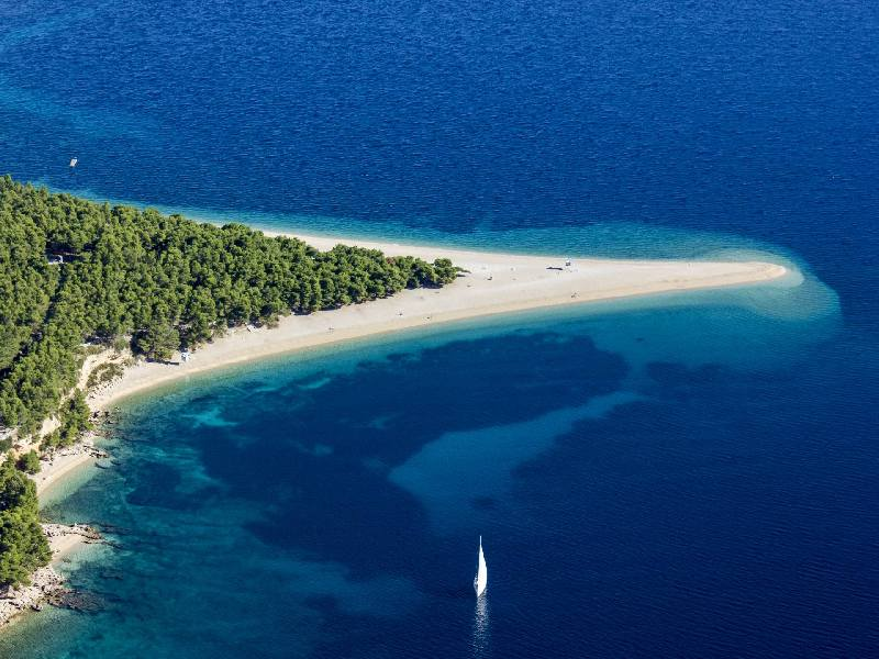 Zlatni rat on Island of Brac