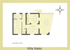 Ground Plan of Villa Vjeka